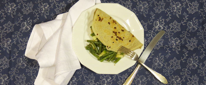 Norddeutsch für Einsteiger: Birnen-Bohnen-Salat mit Speckpfannkuchen