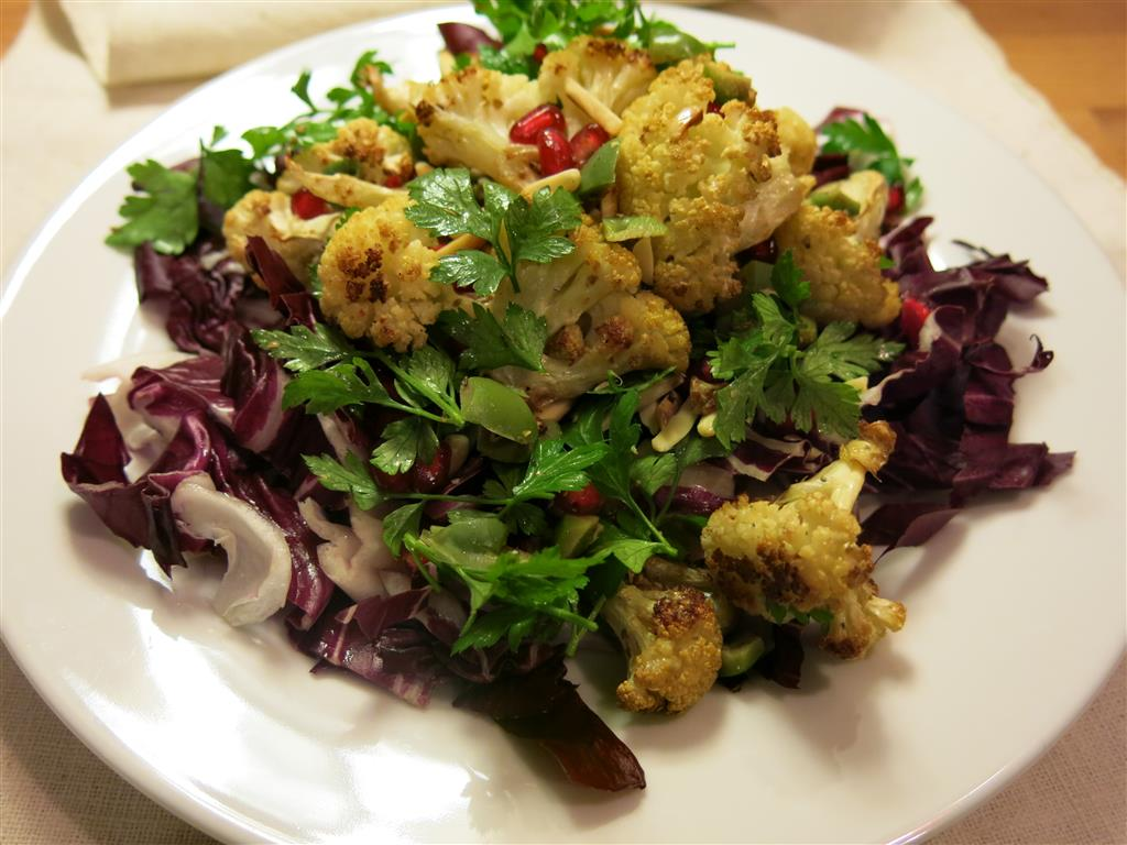 Gewürzblumenkohlsalat ohne Dressing