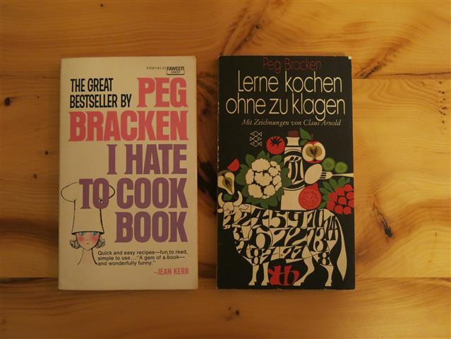 I Hate to Cook Book: Cover deutsche und englische Ausgabe