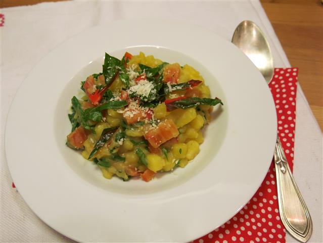 Kartoffel-Risotto mit Mangold