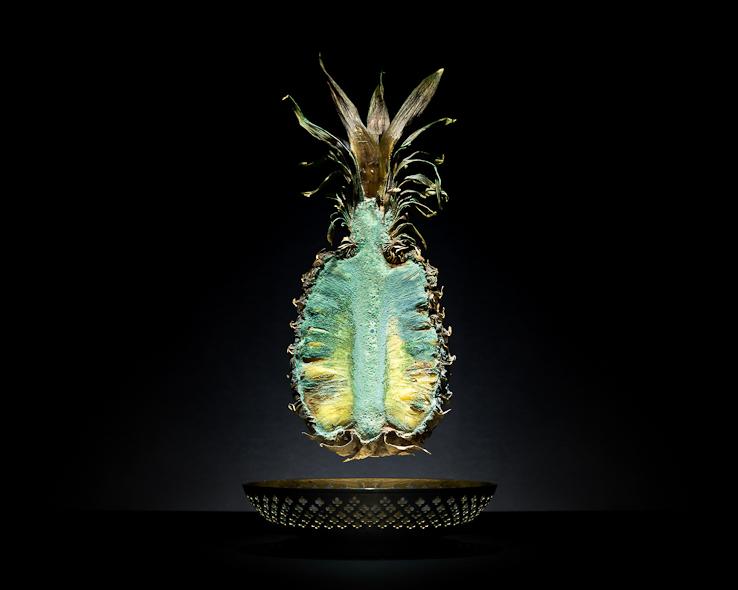 Verschimmelte Ananas