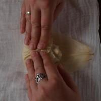 Tamales 4: Maisblätter über Füllung schlagen