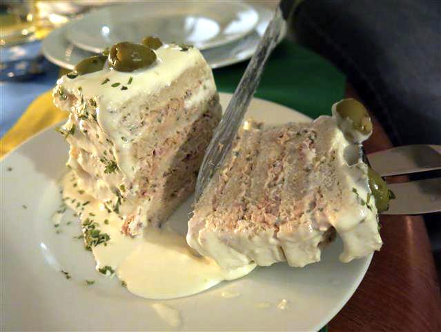Torta salgada angeschnitten