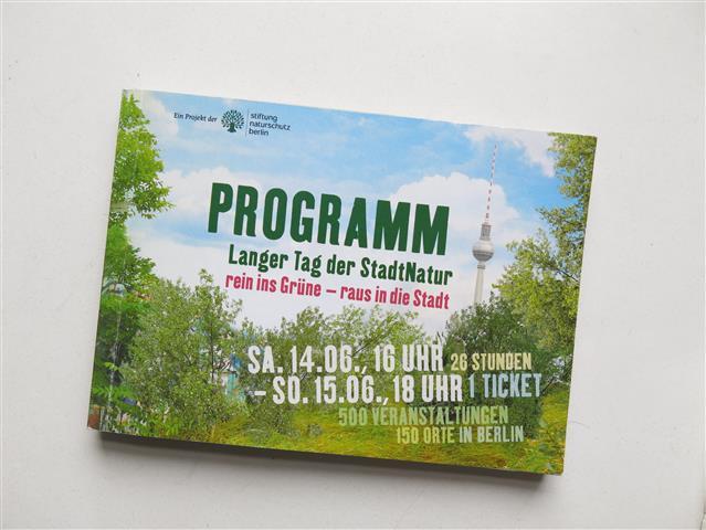 Programm zum Langen Tag der Stadtnatur Berlin 2014