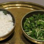 Grüne Bohnen mit Kokos und Sesam