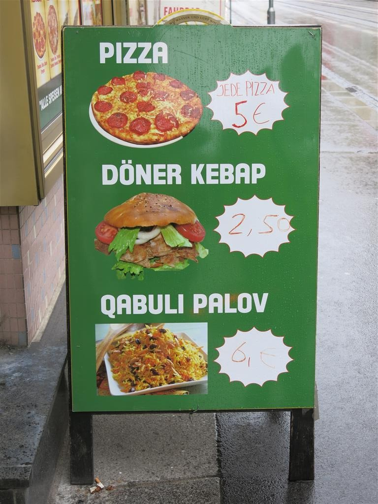 Imbissschild Pizza Döner Qabili Palau