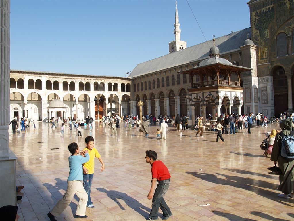 Innenhof der Omayyaden-Moschee in Damaskus