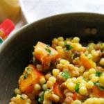 Fregola-Kürbis-Salat mit Salzzitronen