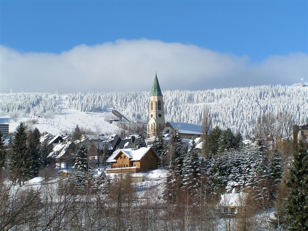 Winteransicht Erzgebirge