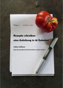 """Cover """"Rezepte schreiben. Eine Anleitung in 10 Geboten"""""""