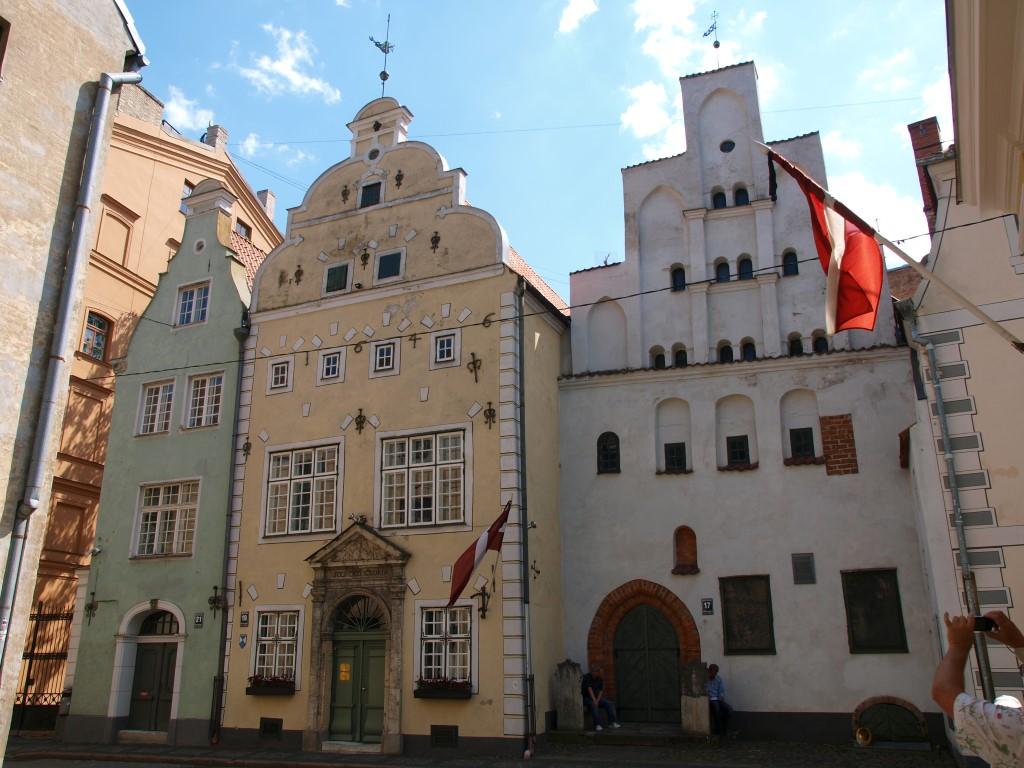 """""""3 Brüder""""-Häuser in der Altstadt von Riga"""