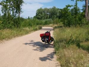 Rad auf Straße