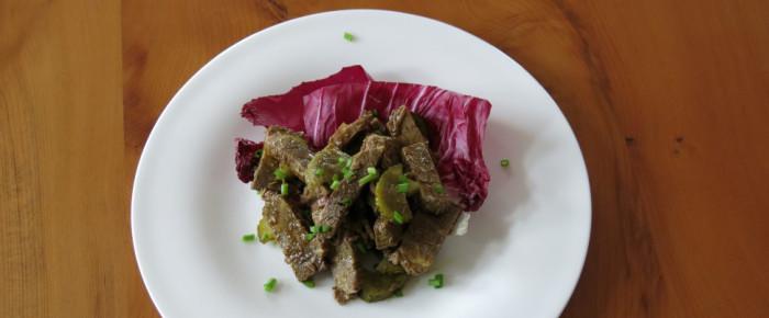 Wenn der Metzger treuherzig guckt: Rindfleischsalat mit Kernöl