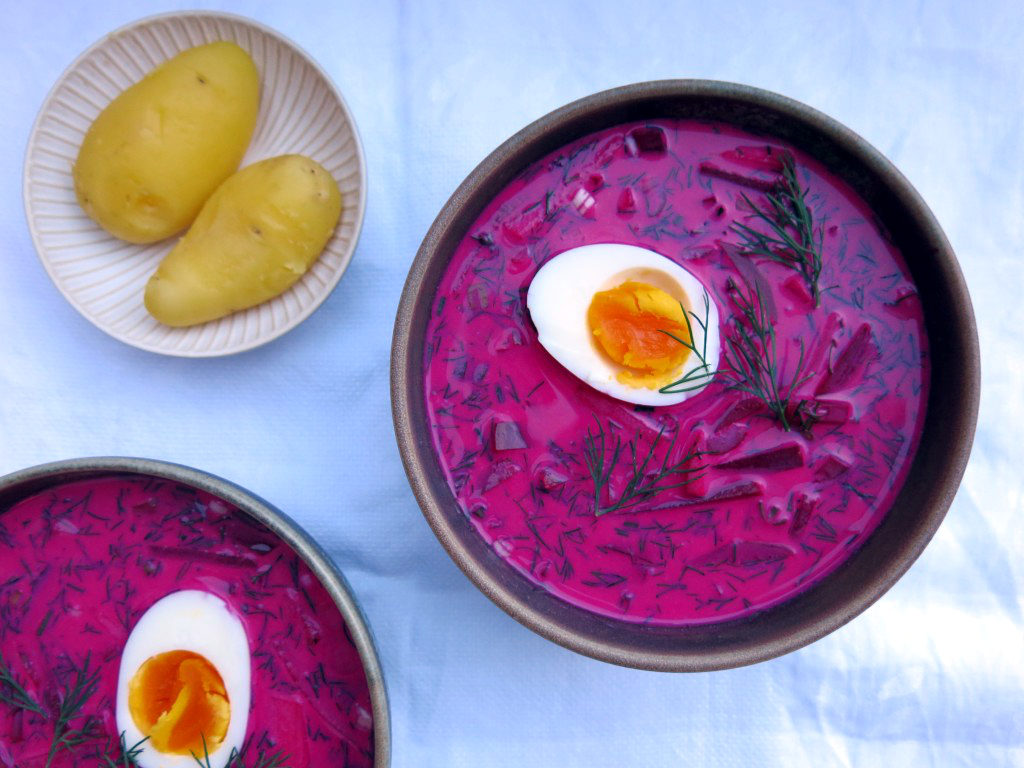 Kalte Rote-Bete-Suppe mit Kartoffeln