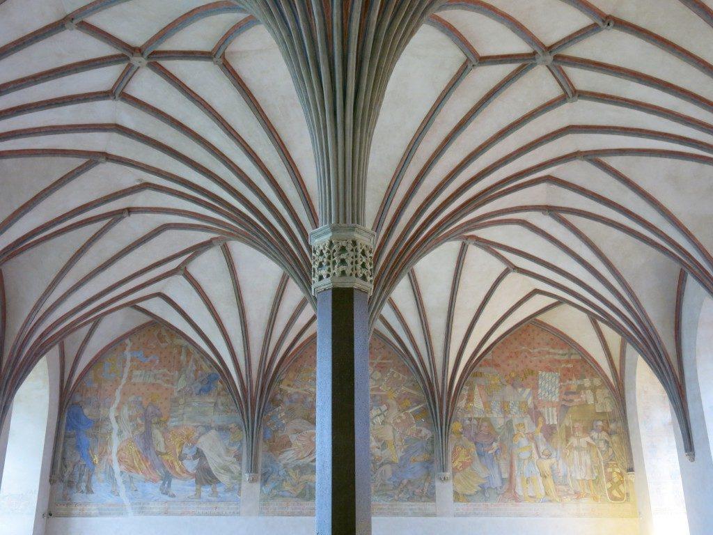 Gewölbe in der Marienburg, Malbork, Polen