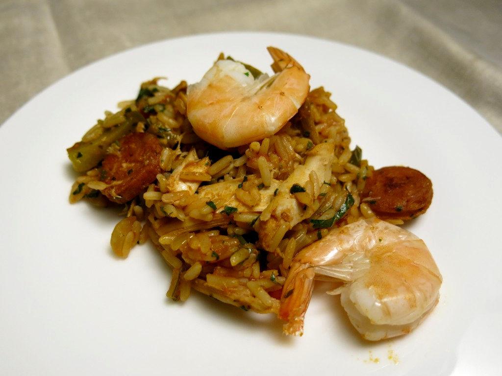 Jambalaya mit Chorizo und Huhn
