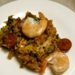 Resteverwertung Hühnerbrühe 2: Jambalaya mit Huhn und Chorizo