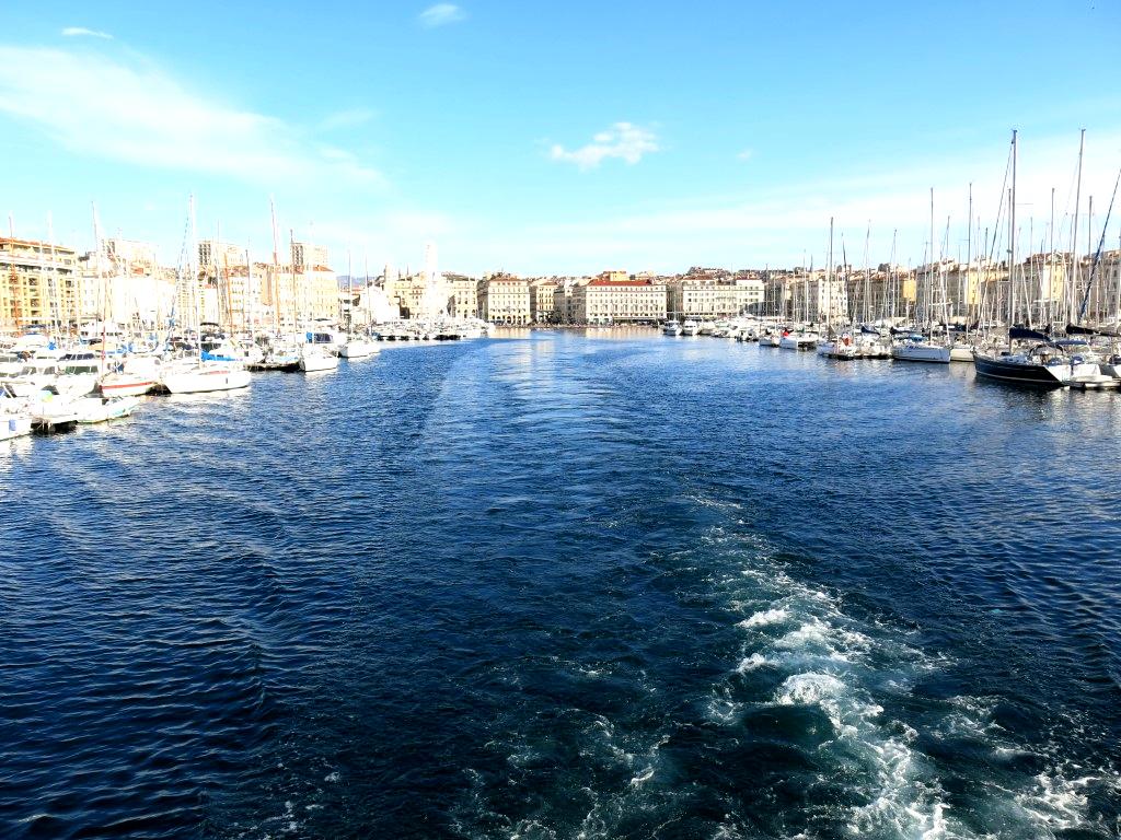 Alter Hafen Marseille vom Boot aus