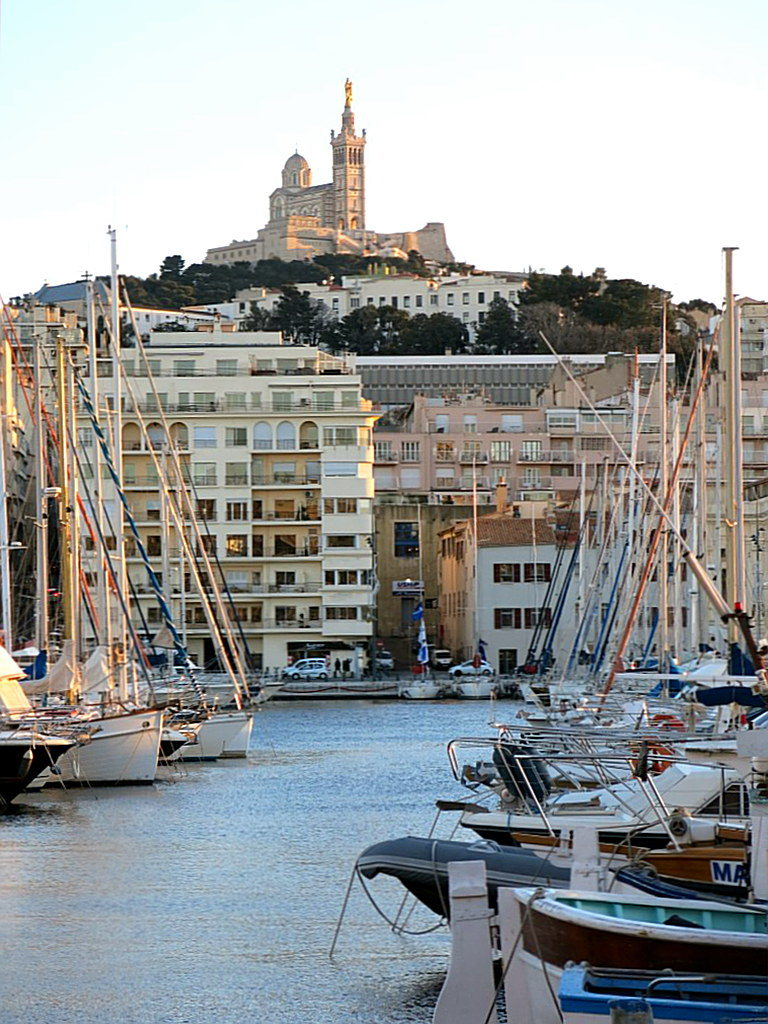 Marseille Notre Dame de la Garde und Vieux Port