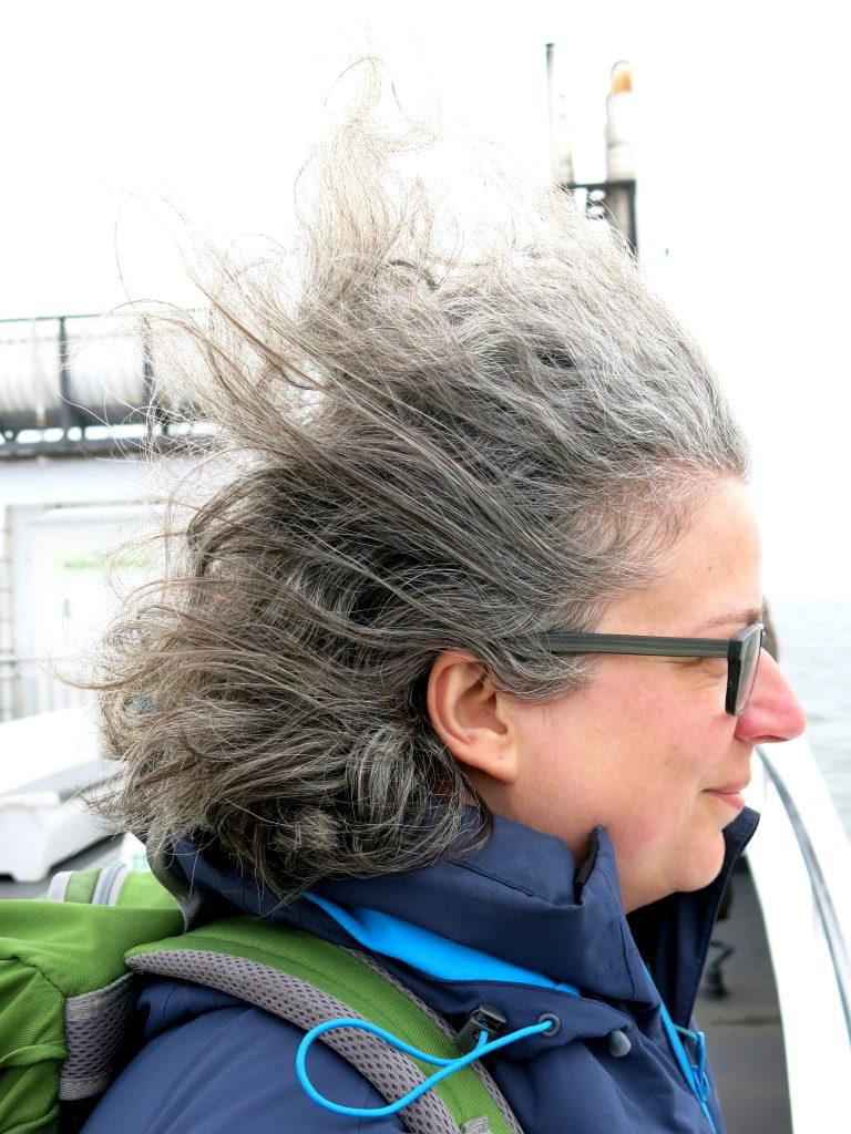 Sabine im Wind