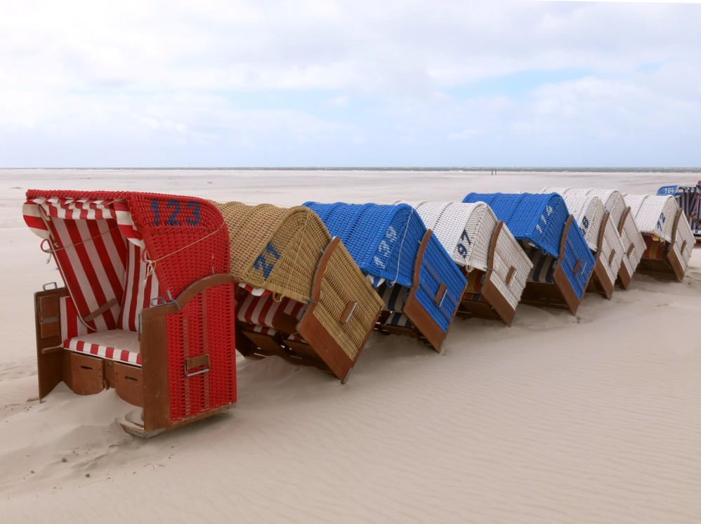 Amrum Strandkörbe am Kniepsand