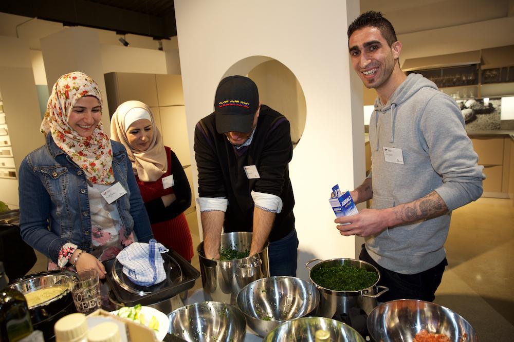 Gemeinsam kochen beim Kochevent