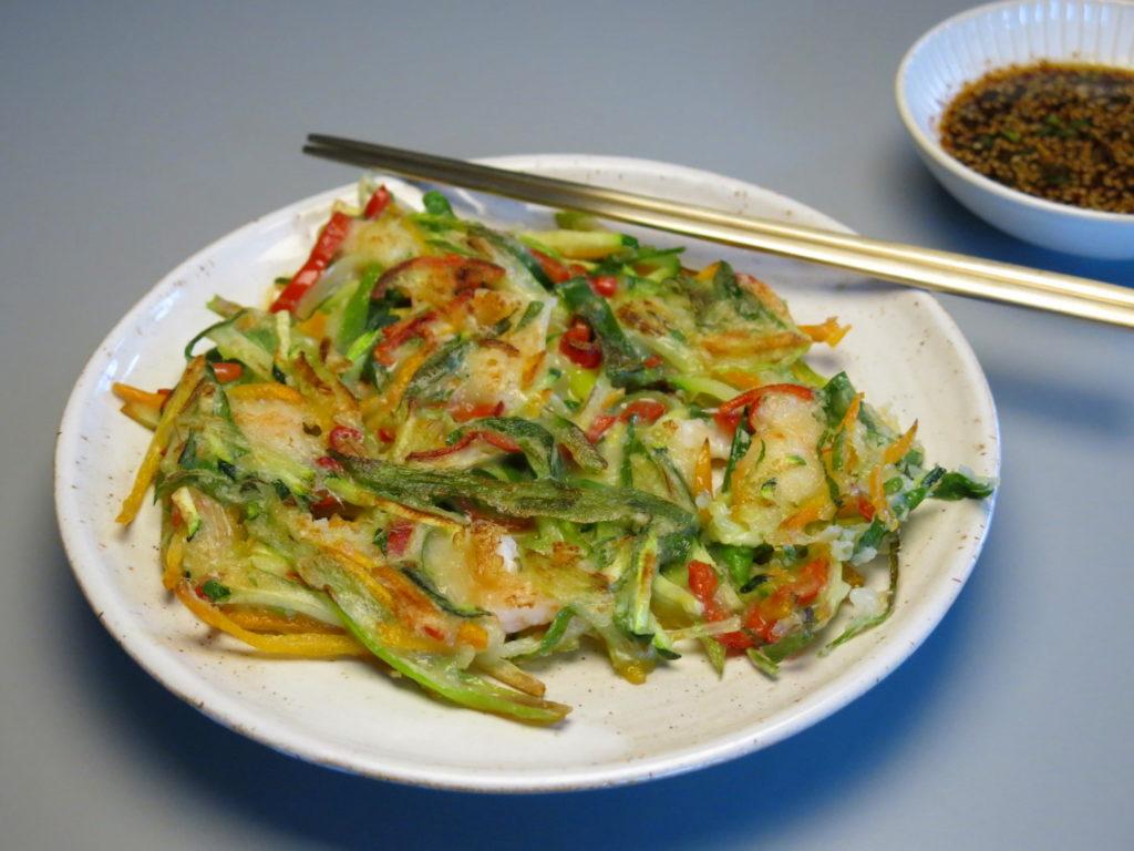Koreanischer Pfannkuchen Haemul Pajeon