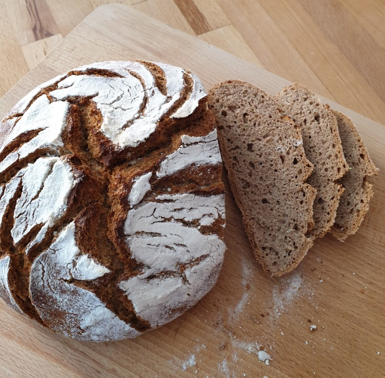 No-Knead-Bread im Anschnitt